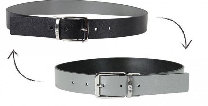 EMPORIO ARMANI  Cintura reversibile con fibbia in metallo logata  4015209P560