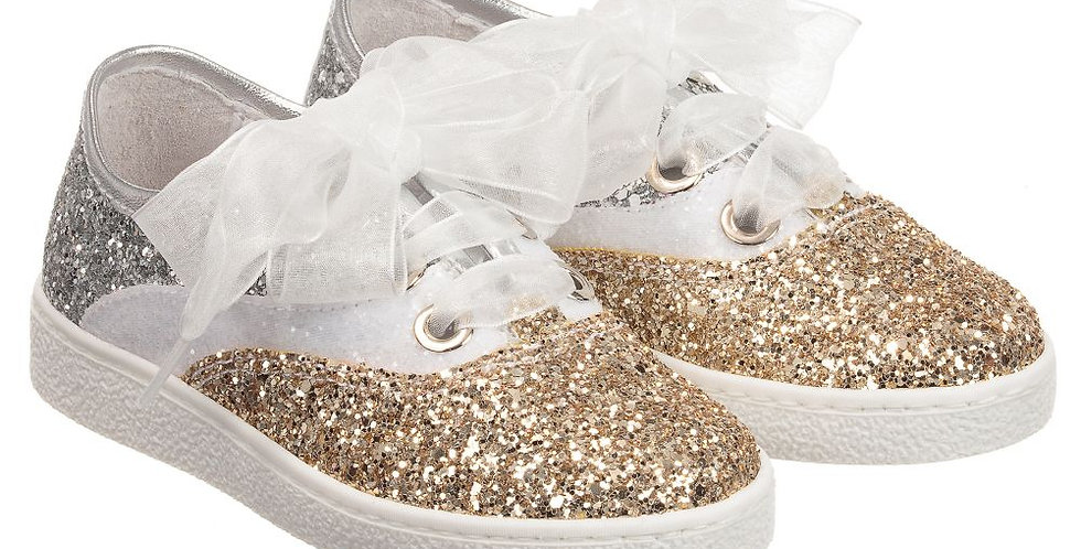 Monnalisa Sneakers Glitter Tricolor 8C3021