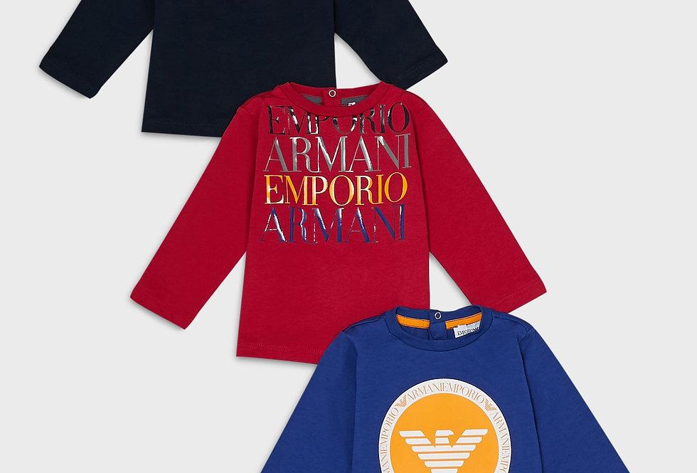 EMPORIO ARMANI  Pack 3 maglie con stampa logo 6GHD014J09Z