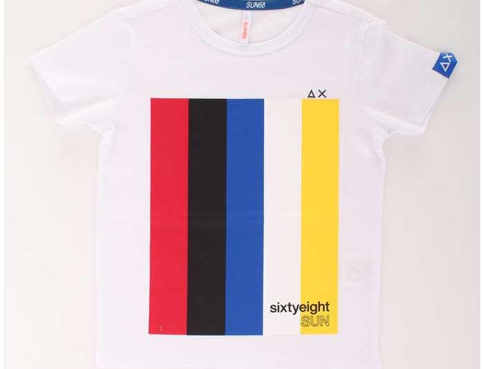 Sun 68 Boy's T-Shirt Heritage Chest Print T19305