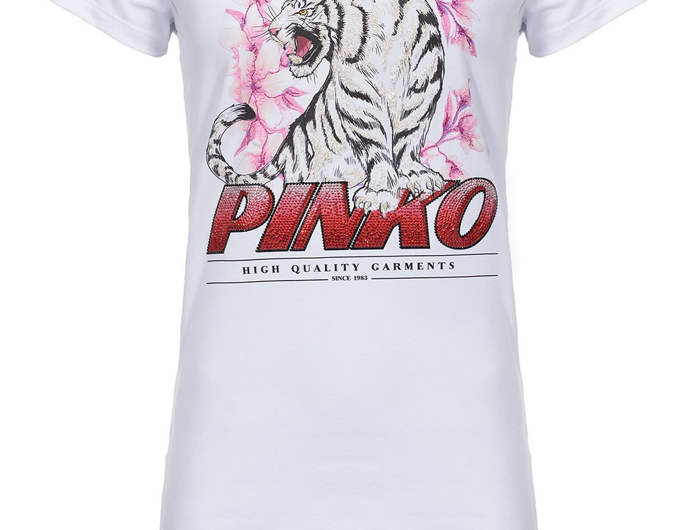 Pinko T-SHIRT CON TIGRE 1B14J3W0Y1