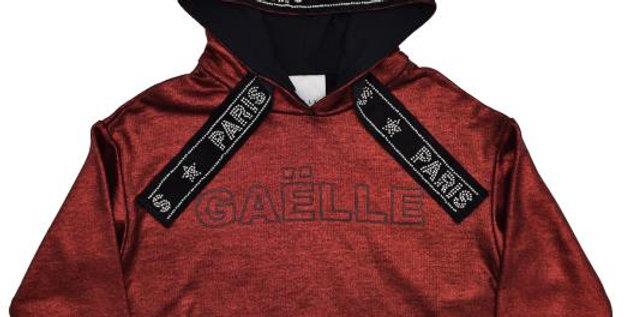 GAëLLE PARIS FELPA CORTA CON CAPPUCCIO 2741F0216