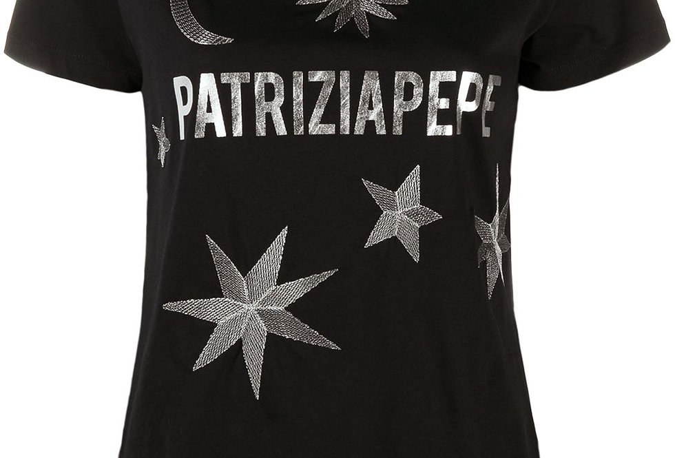 PATRIZIA PEPE T-SHIRT CON RICAMO Art. 8M1189A4V5