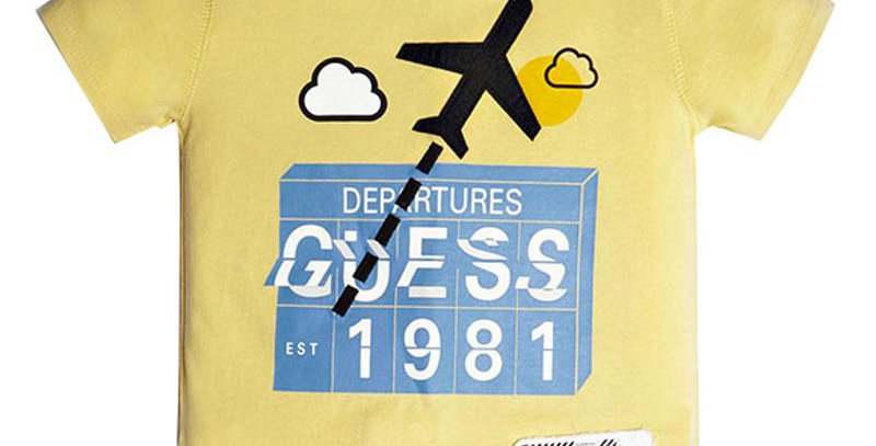 Guess T-Shirt C/Stampa Logo Frontale  N92I03K82C0
