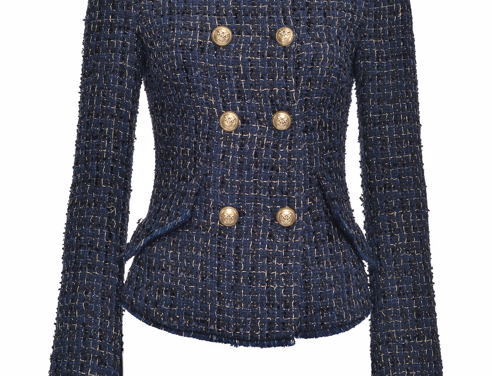 Pinko GIACCA CABAN IN TWEED LUREX 1G15KH8203