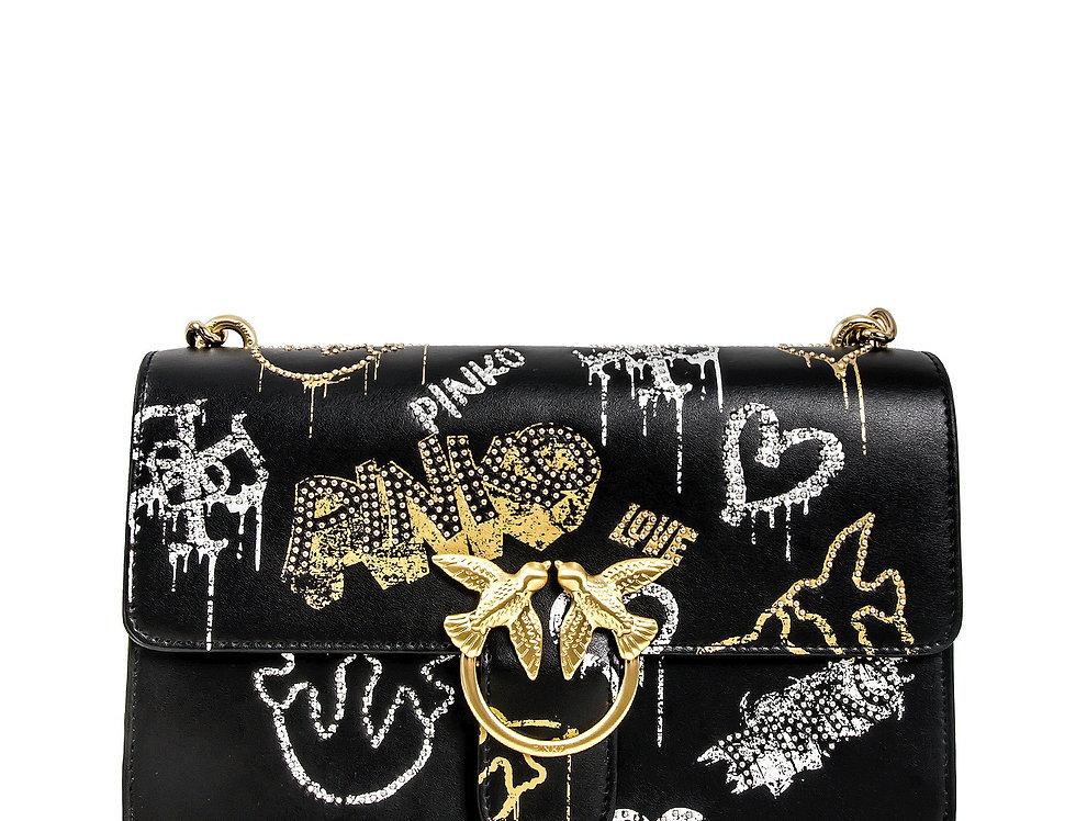 Pinko BORSA LOVE CLASSIC LOVE BAG ICON STREET ART CON BORCHIE 1P21VS Y6MU