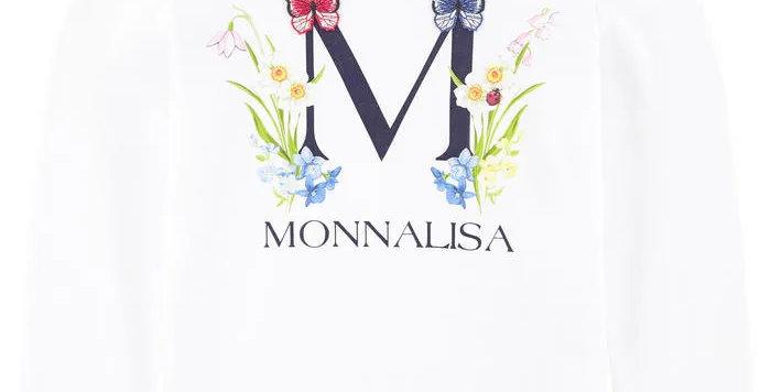 Monnalisa T-SHIRT ST. FIORI 115602SB