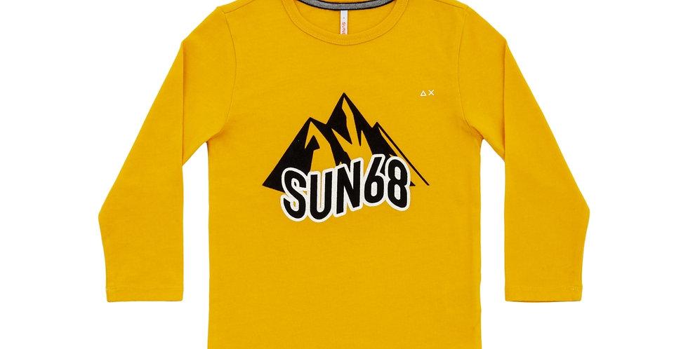 Sun 68 BOY'S T-SHIRT PRINT CHEST L/S T29307