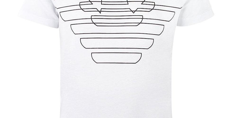 Emporio Armani T-shirt in puro cotone con maxi-logo stampato 3G4T85
