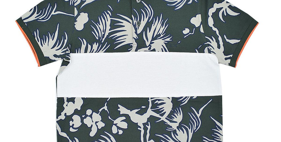 Sun 68 Boy's Polo Stripes On Chest Hawaii El A19325