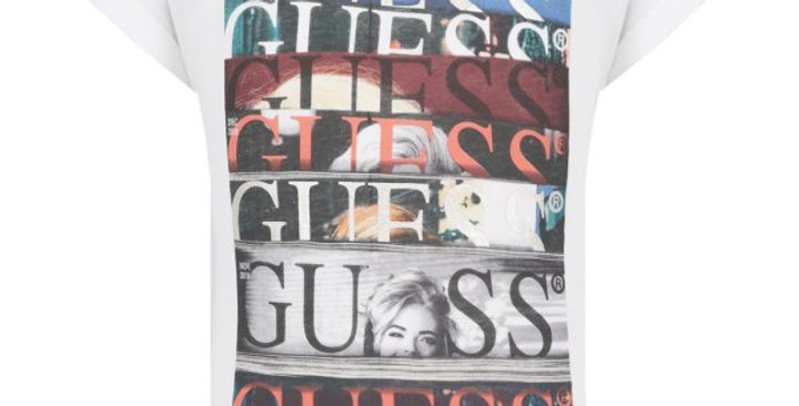 Guess T-Shirt Stampa Frontale J91I32K46D0
