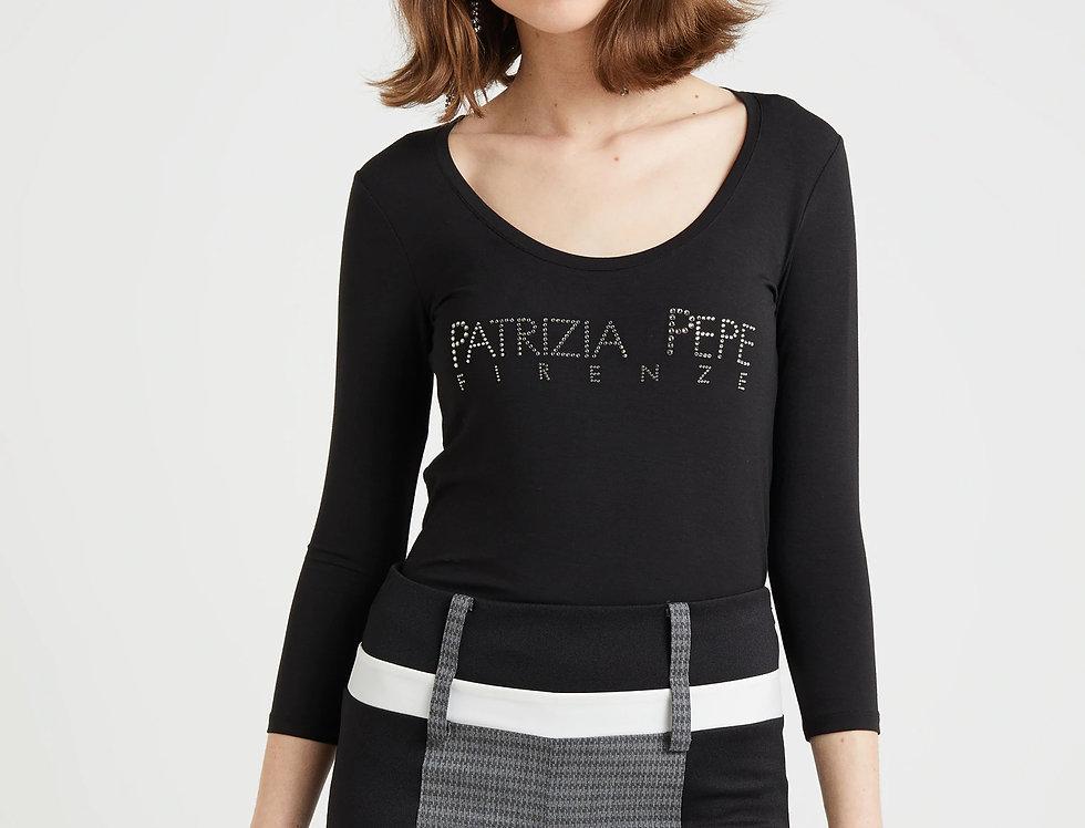 "Patrizia Pepe T-SHIRT CON LOGO ""PATRIZIA PEPE""  CM2668"