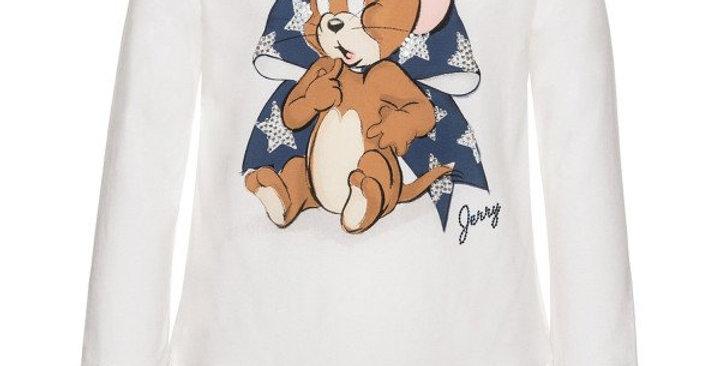 Monnalisa T-shirt lunga strass 194627PW