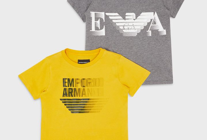 Emporio Armani PACK 2 T-SHIRT CON STAMPA LOGO 6H4D22