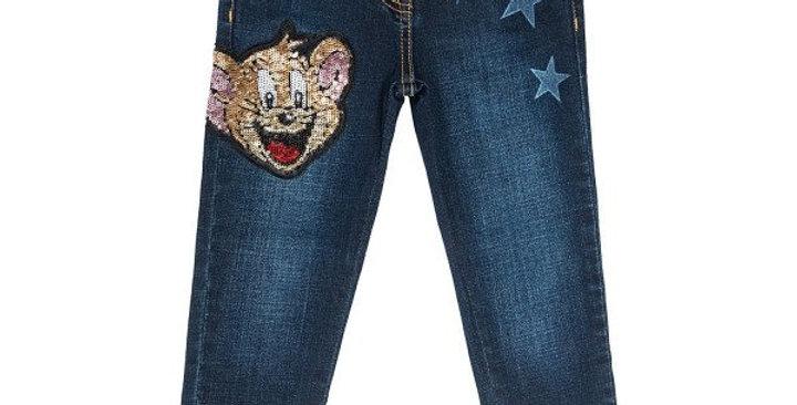 Monnalisa Jeans stelle e paillettes 194412RJ