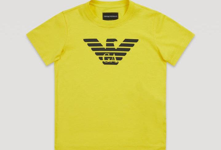 EMPORIO ARMANI  T-shirt in jersey di cotone con maxi-logo  8N4T99