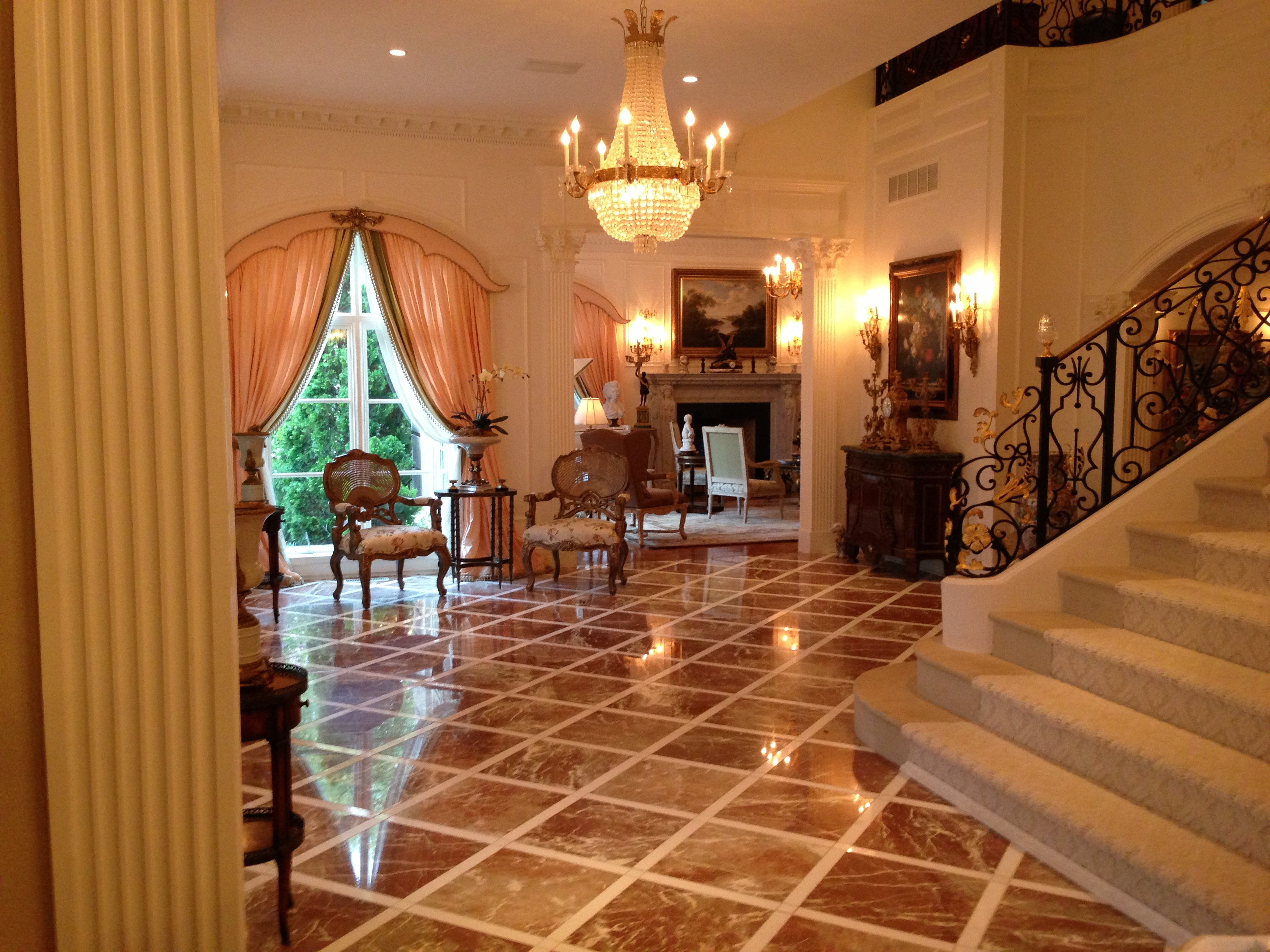 French Chateau Elegant Foyer