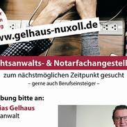VISBEK macht Stellenanzeigen - Rechtsanwälte Gelhaus & Nuxoll    Die Kanzlei Gelhaus & Nuxoll sucht zu sofort Rechtsanwalts- und Notarfachangestellte (m/w)👨⚖️ 👍 Aussagekräftige Bewerbungen bitte per Post oder Mail an: Matthias Gelhaus  Astruper Strasse 6 49429 Visbek E-mail: info@gelhaus-nuxoll.de