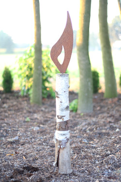 Flamme (ohne Holz und Deko)