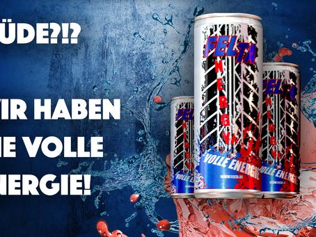 Wir liefern die VOLLE ENERGIE mit dem neuen FELTA ENERGY - DRINK! *Pfandfrei*