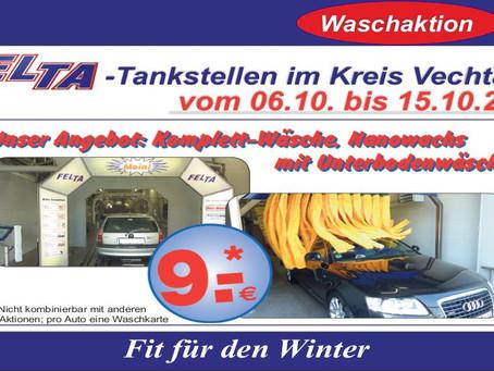 Fit für den Winter - Waschaktion!