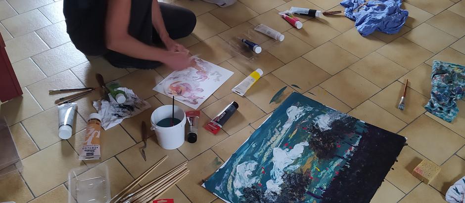 Premier atelier de peinture libre !