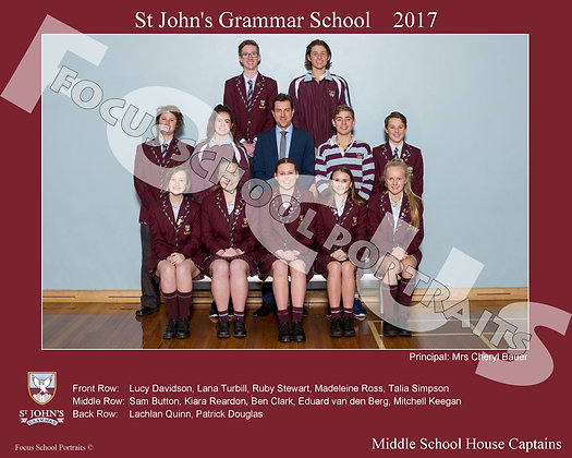 Middle School House Captains