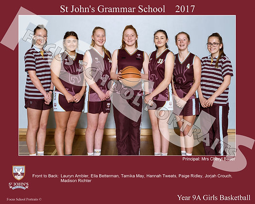 Year 9A Girls Basketball