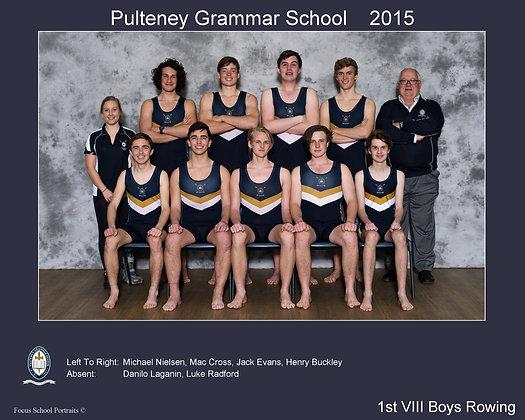 1st VIII Boys Rowing