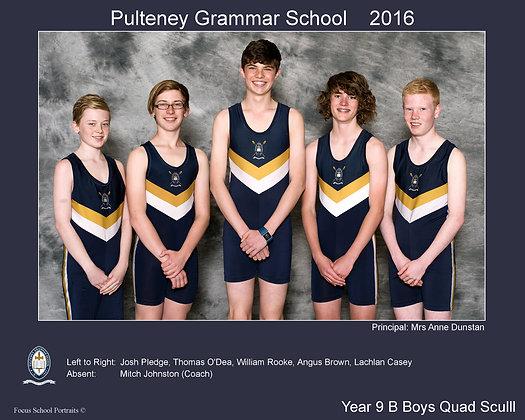 Boys Yr 9 B Quad Scull Rowing