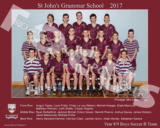 Year 8-9 Boys Soccer B Team