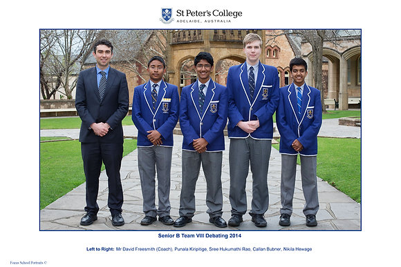 Senior B Team VIII Debating 2014