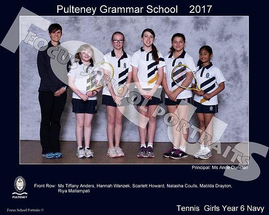 Tennis  Girls Year 6 Navy