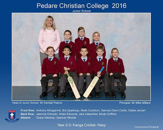 Year 2-3- Kanga Cricket- Navy