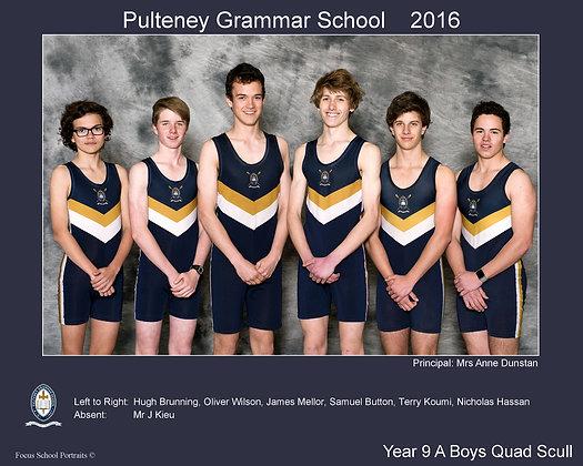 Boys Yr 9 A Quad Scull Rowing