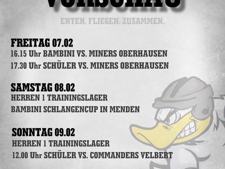 🦆Testspiele und Trainingslager für unsere Enten am Wochenende 🦆