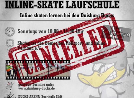 Laufschule abgesagt!