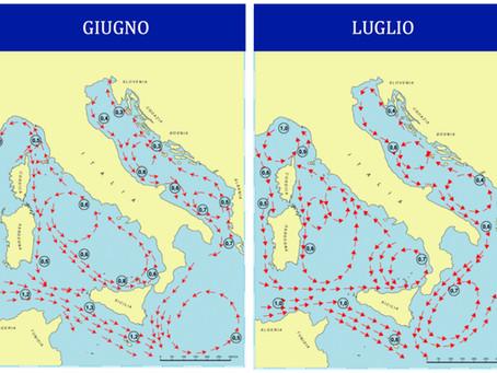 Le correnti marine in Adriatico