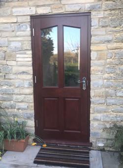 Door with double-glazing glass