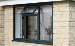 Painted frame with double glazing