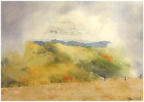 Fenêtre de brume sur la Servelle 32x22 cm