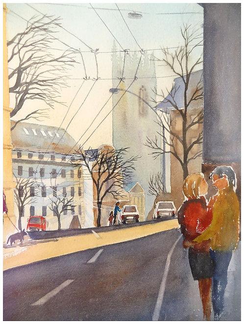 Amour à Fribourg 27x36 cm