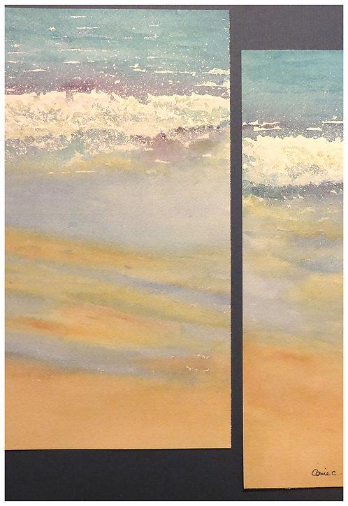 Vagues sur la plage (diptyque)