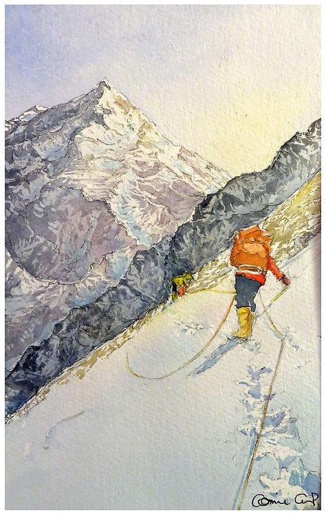 A flanc montagne 14x22 cm