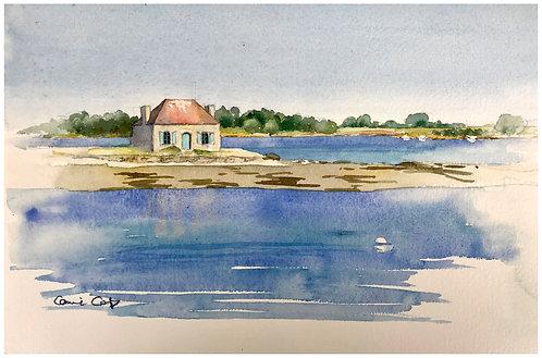 Maison du pêcheur 29x18 cm