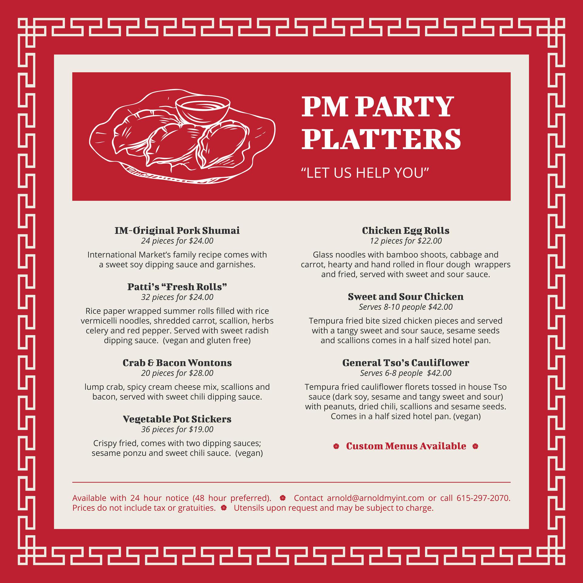 PM Party Platters