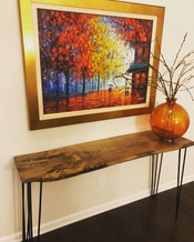 The Spalted Beech Hall Table looking gre