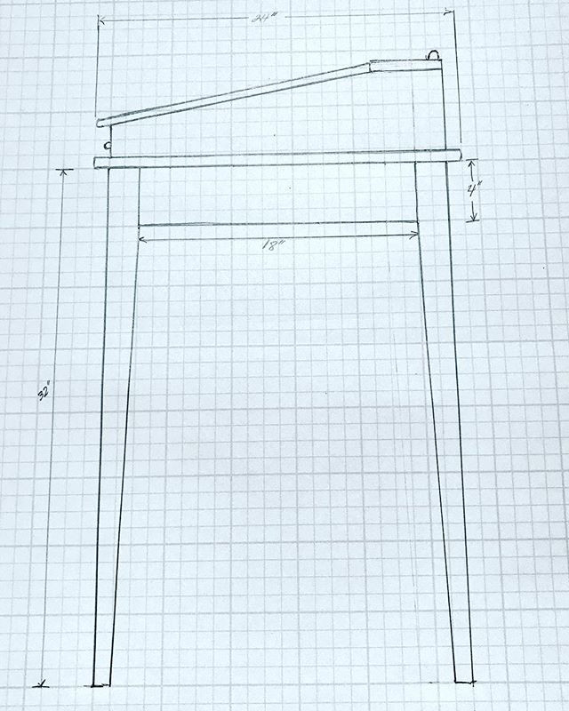 Drafting my future Drafting Table! What