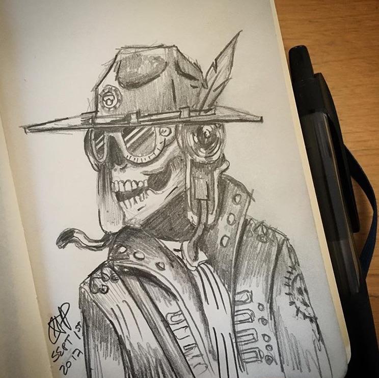 Sketch by a fan.