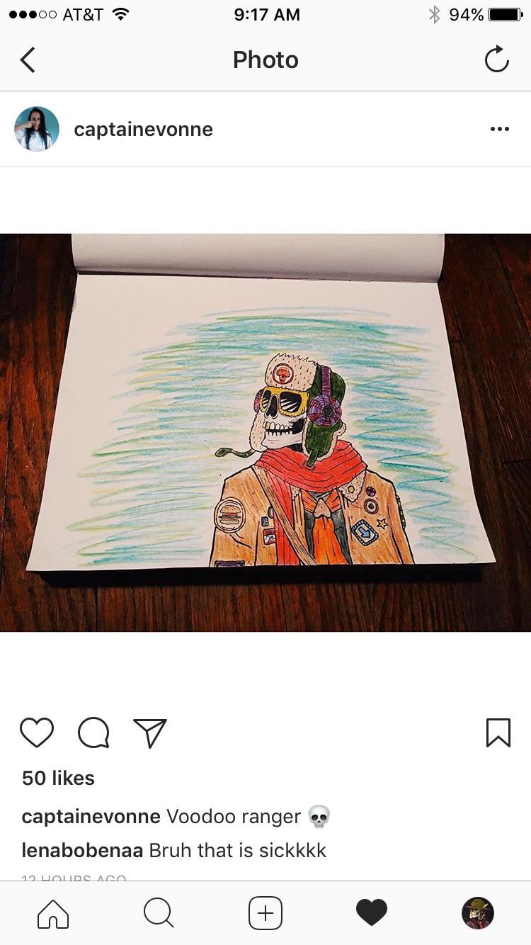 Coloring by a fan.